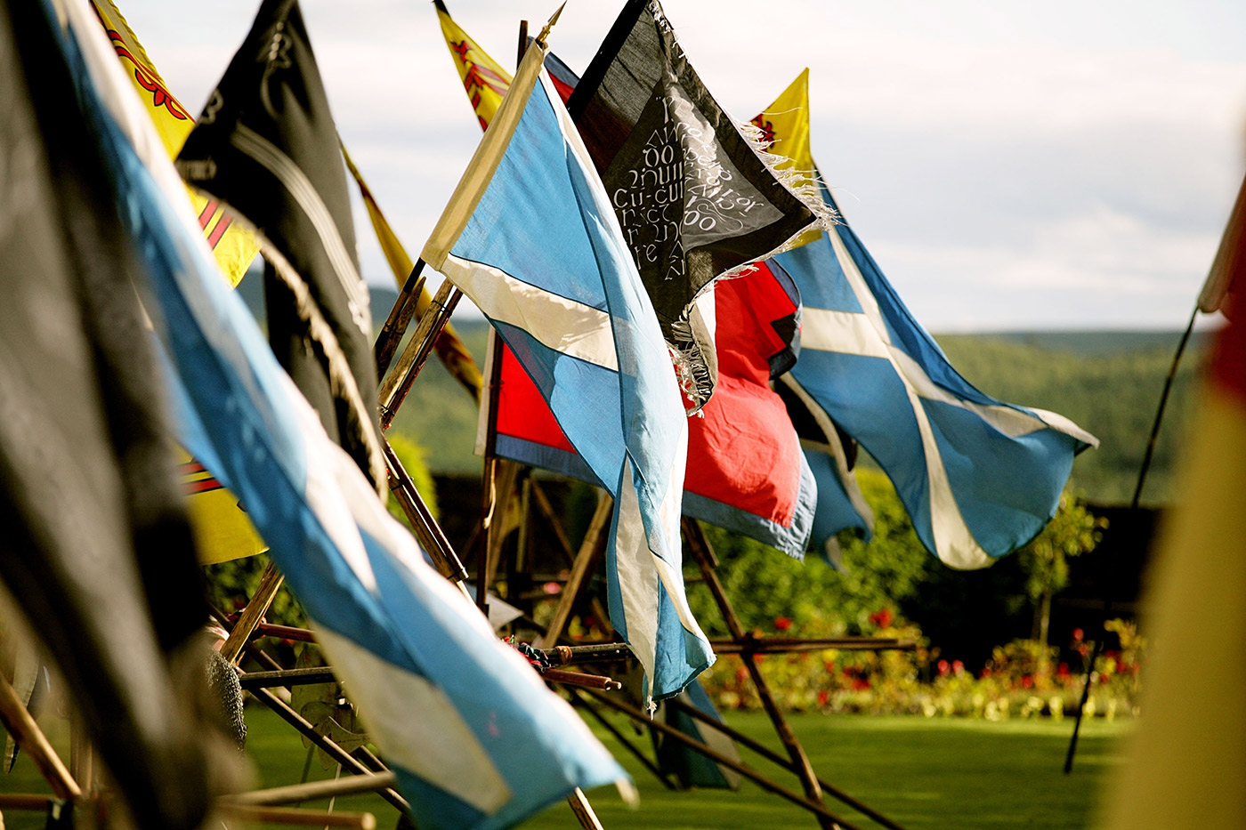 clan and country flags
