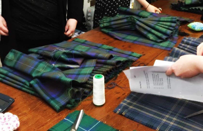Scottish kilt making